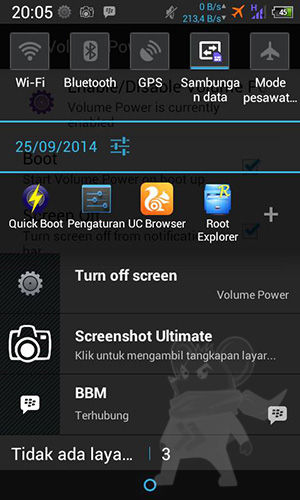 Tombol Volume Layar Android4