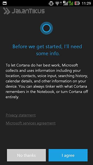 Install Cortana Di Android 3