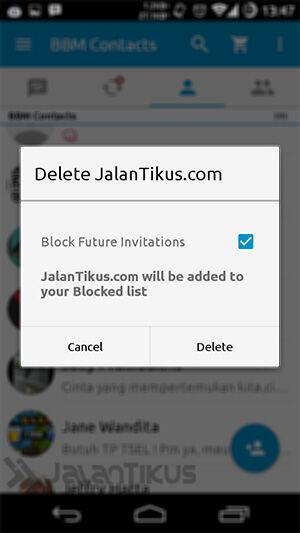 Cara Block Unblock Bbm 2