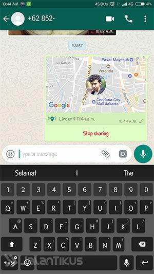 Cara Melacak Lokasi Orang Lain Lewat Whatsapp 3