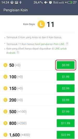 Cara Beli Koin LINE Dengan Pulsa 5 Db075