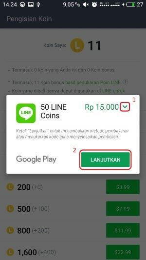 Cara Beli Koin LINE Dengan Pulsa 6 A81d8