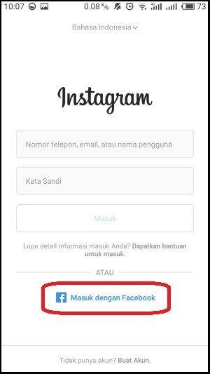 Masuk Instagram Lewat Facebook 2 0b1b4