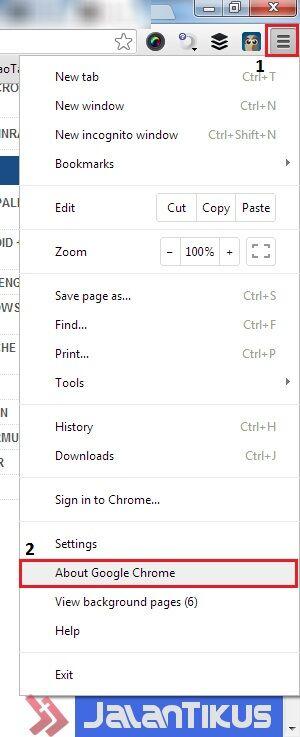 Cara Update Google Chrome 2