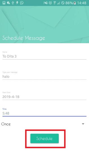 Langkah Lima Message Scheduler Da6a7