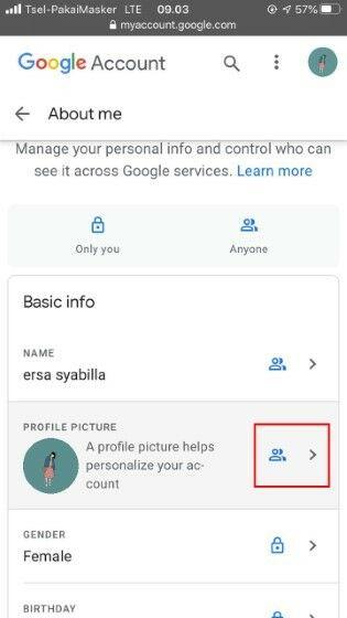 Cara Menghapus Foto Profil Gmail Di Browser Iphone E0925