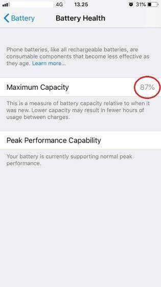 Cara Cek Kesehatan Baterai Iphone 6 Eff74