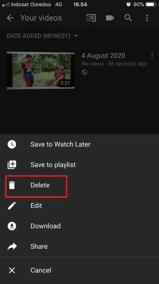 Cara Hapus Video Di Youtube Iphone 3dfd4