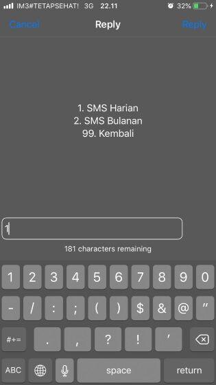 Cek Paket Sms Indosat 4307d