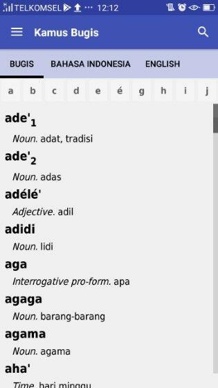 Aplikasi Translate Bahasa Bugis Bcdef
