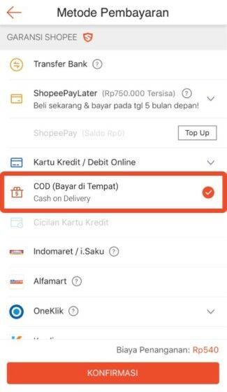 Cara Pembayaran Cod Shopee 5aa28