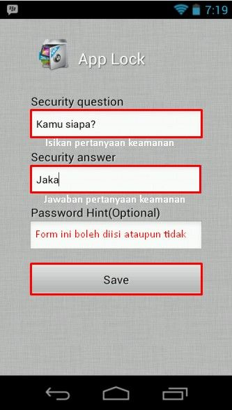 Cara Mengunci Melindungi App 3