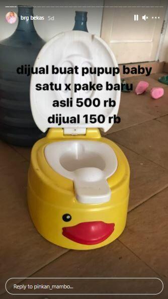 Pispot Bayi Pinkan Mambo Rp150 Ribu D44f2