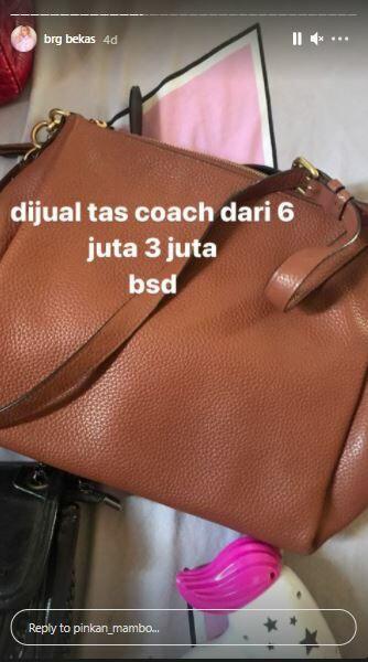 Tas Coach Pinkan Mambo Rp3 Juta Ac50c