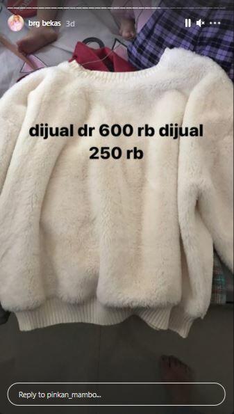 Sweater Pinkan Mambo Rp250 Ribu B37ed