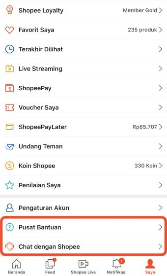 Cara Mengganti Username Shopee A442d