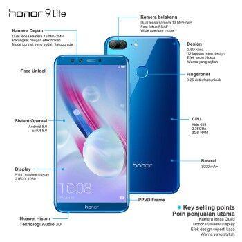 Honor 9 Lite Harga Fitur Spesifikasi 2c344