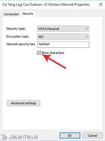 Mengetahui Password Wifi Windows 10 5