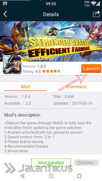 Cheat Heroes Charge Di Android Dengan Xmodgames 2