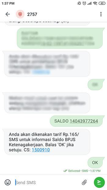 Cara Cek Saldo BPJS Ketenagakerjaan Via SMS Aafc4