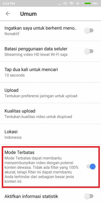 Cara Mematikan Mode Restricted Youtube 4 99ab1