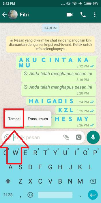 Cara Membuat Tulisan Berwarna Whatsapp 5 B4caf