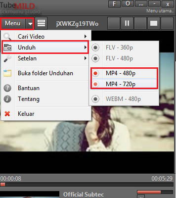 Download Youtube Dengan Tubemild 1