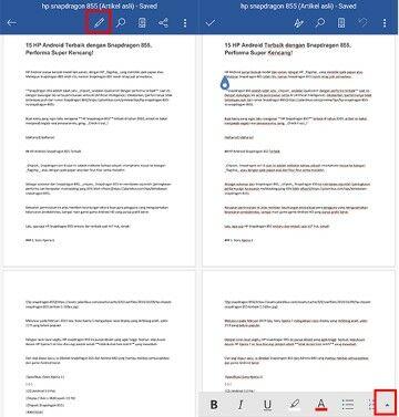 Cara Menghilangkan Garis Merah Di Word Hp Ce90b