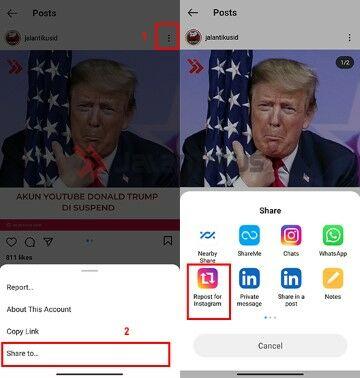 Cara Repost Instagram Dan Captionnya Tanpa Aplikasi 413b9