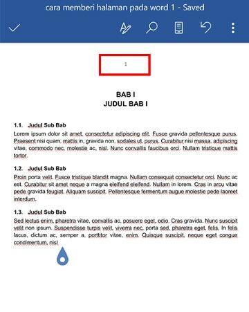Cara Menambahkan Nomor Halaman Di Word Android B3285