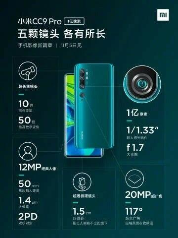 Xiaomi Luncurkan Mi Cc9 Pro Custom F29be