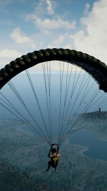 wallpaper-pubg-hd-smartphone-parachute