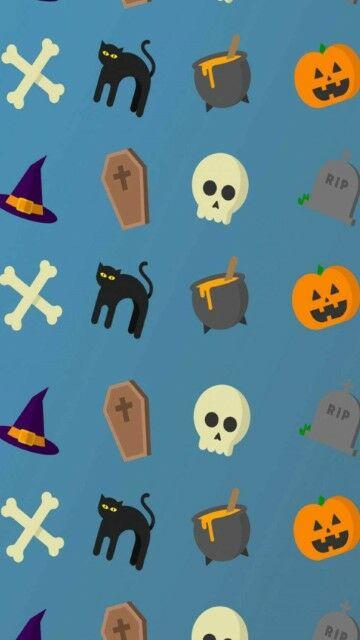 Wallpaper Keren Doodle Halloween Large D26bf
