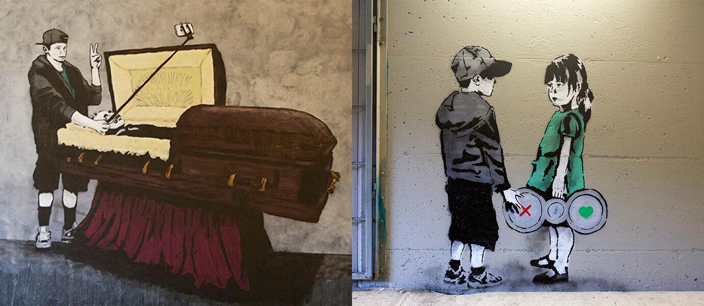 20 Gambar Graffiti yang Menyindir Kehidupan Internet Masa Kini