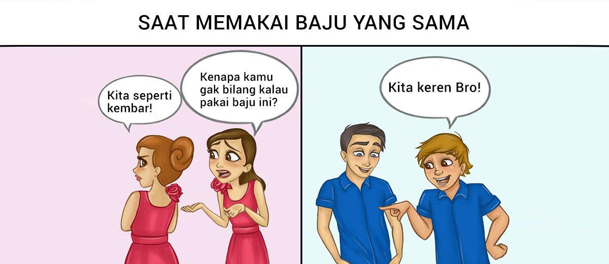 Ilustrasi Perbandingan Antara Persahabatan Laki-laki dan Perempuan