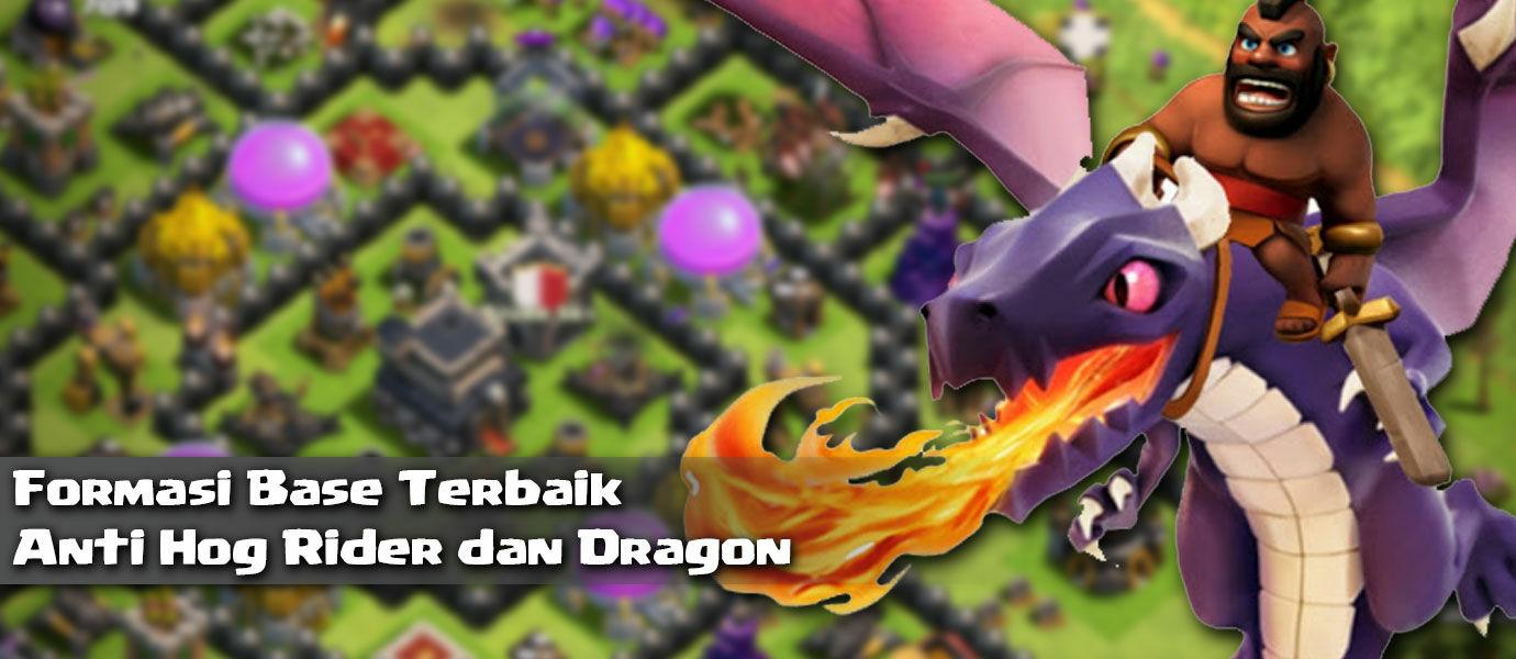 Kumpulan Formasi Base Clash of Clans Anti Hog Rider dan Dragon Terbaik