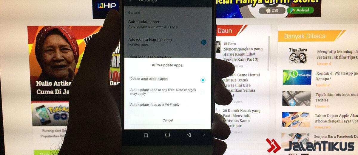 Cara Menonaktifkan Update Otomatis Aplikasi di Android