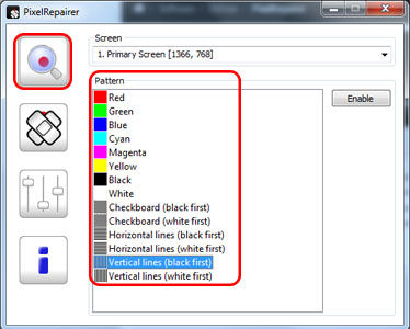 Layar Monitor Bergaris Perbaiki Dengan Pixelrepairer 1