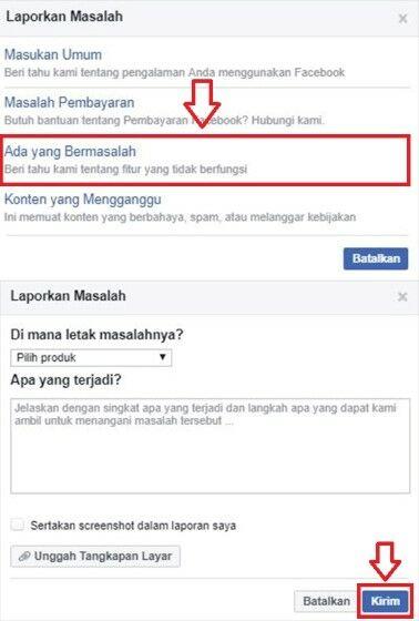 Cara Mengatasi Facebook Error Lapor 2 B2168