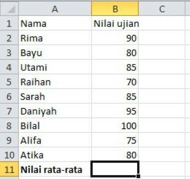 Cara Menghitung Rata Rata Di Excel 4c391