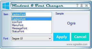 Cara Mengganti Font Windows8 1