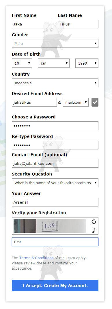 Daftar Email Keren