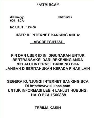 cara daftar internet banking bca