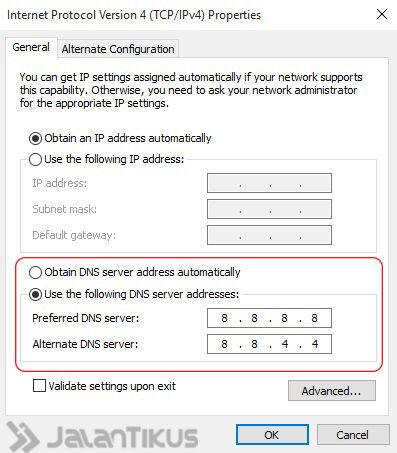 Akses Situs Diblokir Dengan Google Dns 5