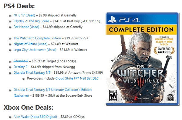 Daily Game Deals