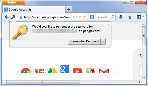 Pop up Pengingat untuk Menyimpan Kata Sandi di Browser