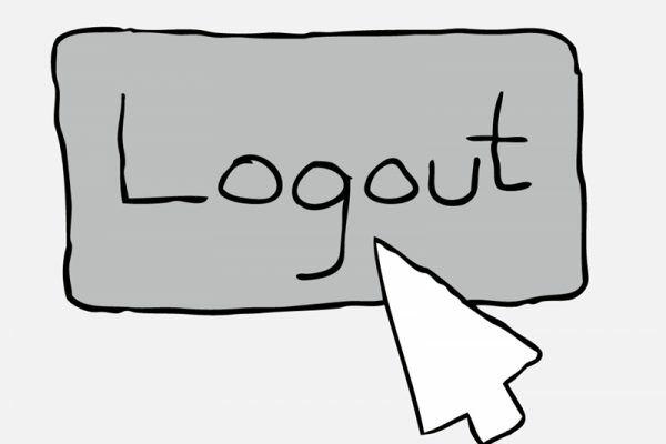 Tombol Logout