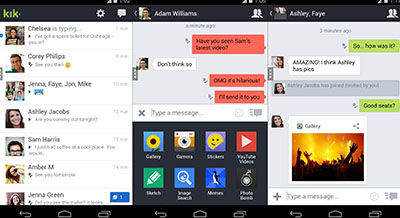 3 Aplikasi Gratis Alternatif Whatsapp Kik