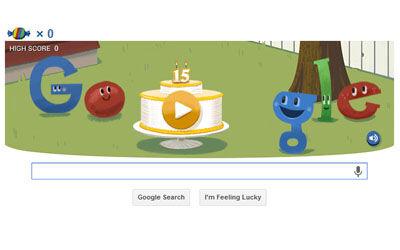 Google Doodle Edisi Ulang Tahun Google 1