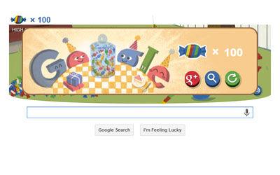 Google Doodle Edisi Ulang Tahun Google 4